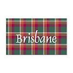 Tartan - Brisbane Rectangle Car Magnet