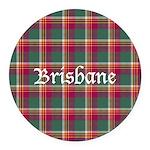 Tartan - Brisbane Round Car Magnet