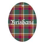 Tartan - Brisbane Ornament (Oval)