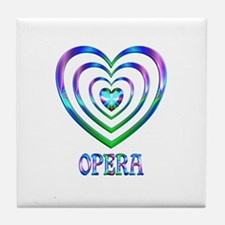 Opera Hearts Tile Coaster