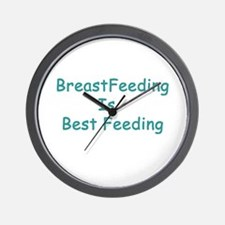 BreastFeeding Is Best Wall Clock
