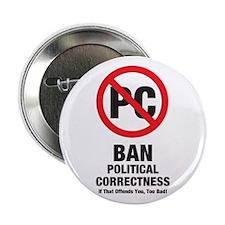 Ban Political Correctness Button