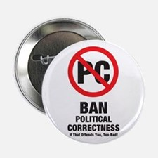 Ban Political Correctness Button