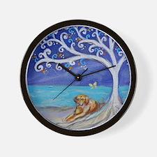 Golden Retriever Spiritual Tree Wall Clock
