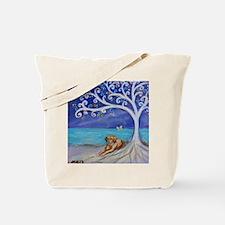 Golden Retriever Spiritual Tree Tote Bag
