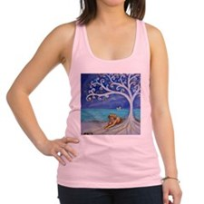 Golden Retriever Spiritual Tree Racerback Tank Top