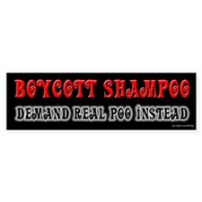 Demand Real Poo Bumper Car Sticker