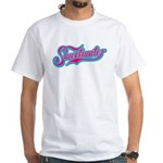Sweetwater Pink/Teal White T-Shirt