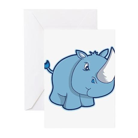 Blue Rhino Greeting Cards (Pk of 10)