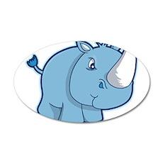 Blue Rhino Wall Decal
