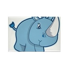 Blue Rhino Rectangle Magnet