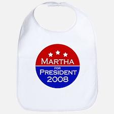 Martha for president Bib