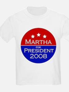 Martha for president Kids T-Shirt