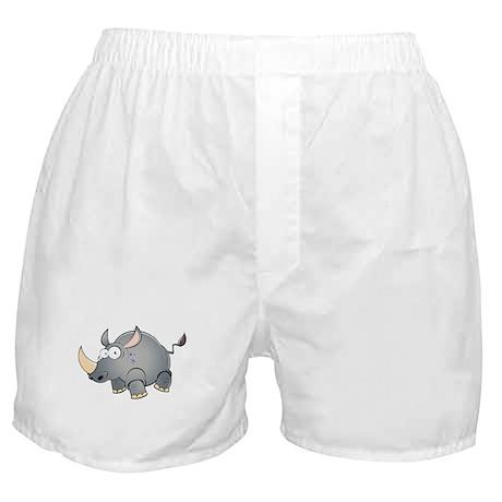 Silly Cartoon Rhino Boxer Shorts