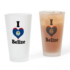 Funny Belize Drinking Glass