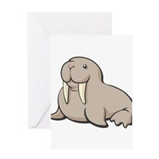 Cartoon Walrus Greeting Card