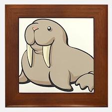 Cartoon Walrus Framed Tile