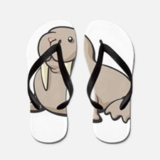 Cartoon Walrus Flip Flops