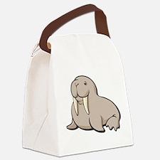 Cartoon Walrus Canvas Lunch Bag