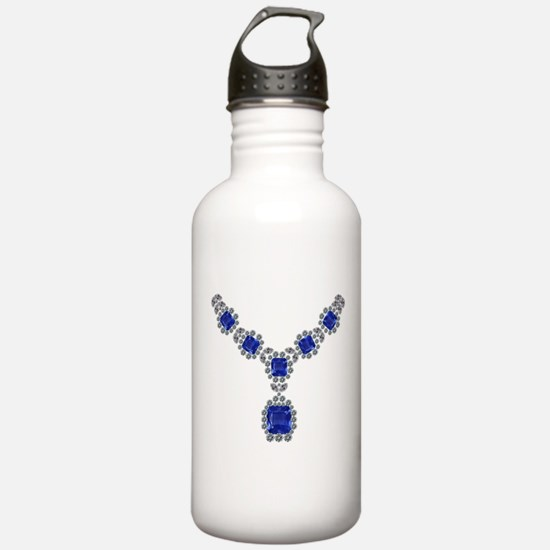 Sapphire and Diamond Necklace Water Bottle