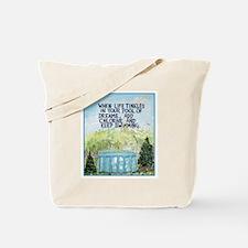 Keep Swimming / Sculptured Art Tote Bag