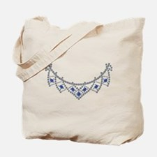 1950s Sapphire and Diamond Necklace Tote Bag