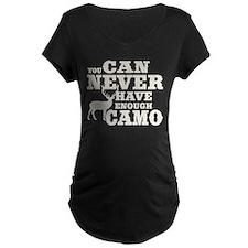 Hunting Camo Humor Maternity T-Shirt