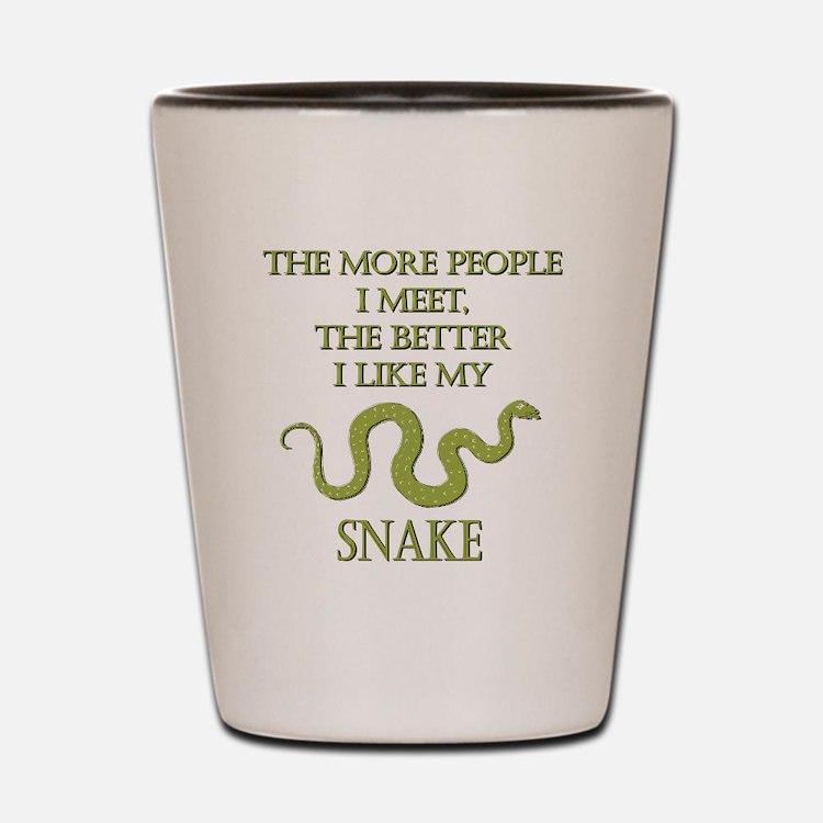 Like My Snake Shot Glass