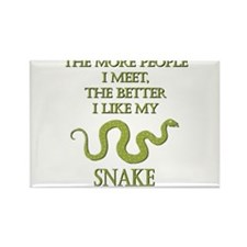Like My Snake Rectangle Magnet