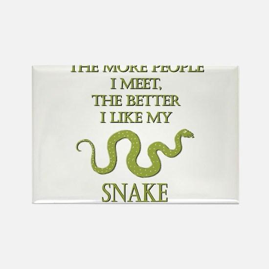 Like My Snake Rectangle Magnet
