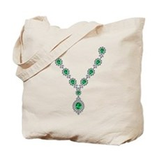 Emerald and Diamond Necklace Tote Bag