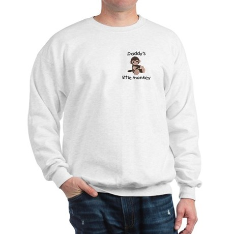 Daddy's little monkey (brown) Sweatshirt