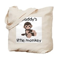 Daddy's little monkey (brown) Tote Bag