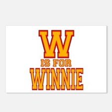 W is for Winnie Postcards (Package of 8)