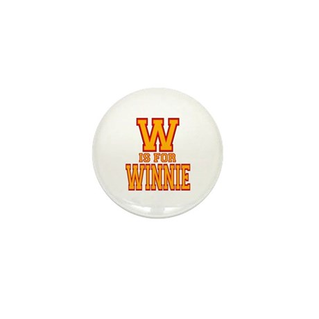 W is for Winnie Mini Button (10 pack)
