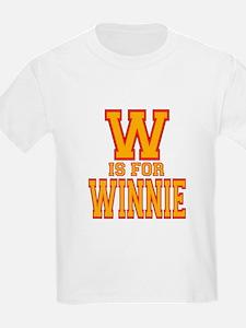 W is for Winnie Kids T-Shirt