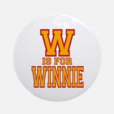 W is for Winnie Ornament (Round)