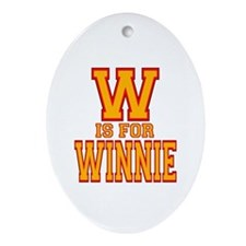 W is for Winnie Oval Ornament
