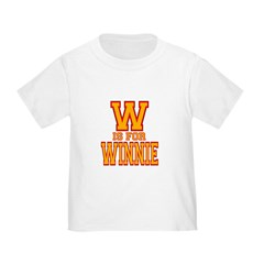 W is for Winnie Toddler T-Shirt
