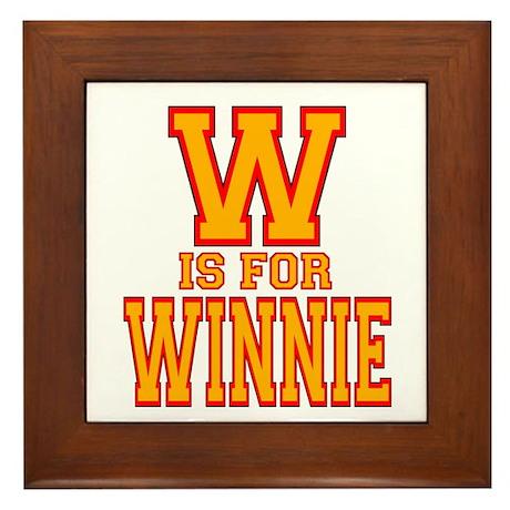 W is for Winnie Framed Tile