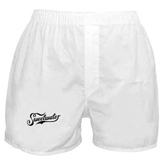 Sweetwater White/Black Boxer Shorts