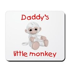 Daddy's little monkey (red) Mousepad