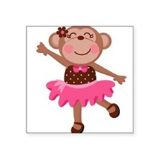 Monkey Ballerina Sticker