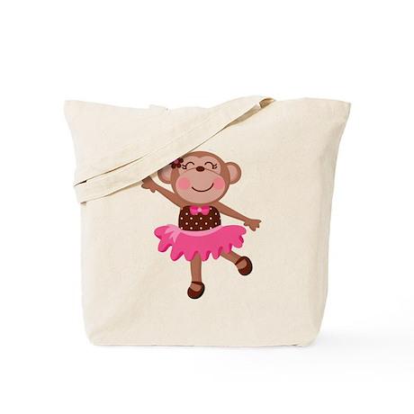 Monkey Ballerina Tote Bag