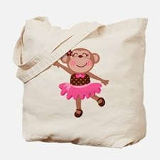 Monkey Ballerina Tote Bag