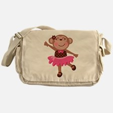 Monkey Ballerina Messenger Bag