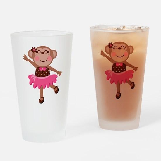 Monkey Ballerina Drinking Glass