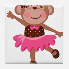 Monkey Ballerina Tile Coaster