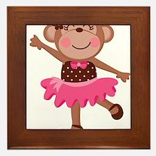 Monkey Ballerina Framed Tile