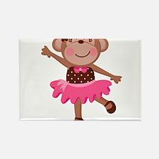Monkey Ballerina Rectangle Magnet